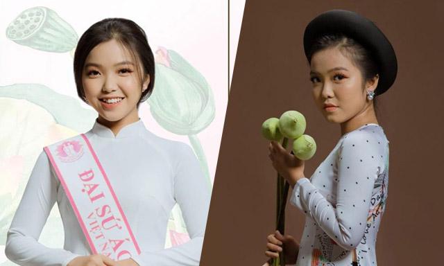 Đại sứ áo dài Bảo Nghi tỏa sáng rạng rỡ trong áo dài của NTK Việt Hùng