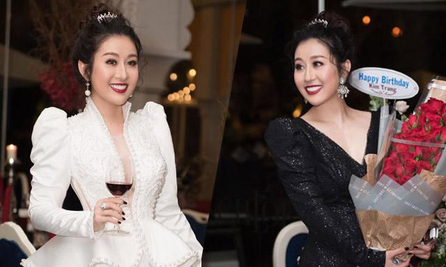 """Mừng tuổi mới, Nữ hoàng sắc đẹp Kim Trang rạng ngời trong """"lâu đài Chloe Gallery"""""""