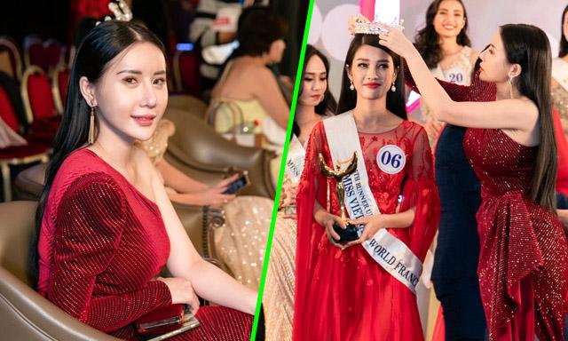 Quỳnh Anh Beauty đẹp ngất ngây tại chung kết Hoa Hậu Thế Giới Người Việt Tại Pháp