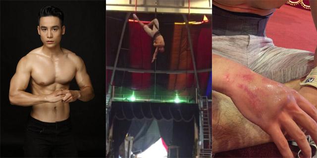 Cao Xuân Tài gặp tai nạn trong buổi tập luyện xiếc trên cao