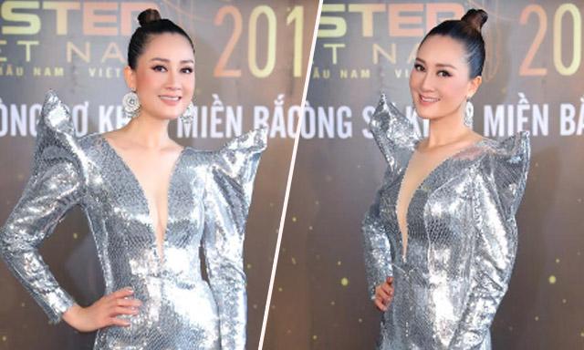 """Hoa hậu Đàm Lưu Ly khiến đàn em """"gục ngã"""" khi diện bộ trang phục NTK Minh Tuấn"""