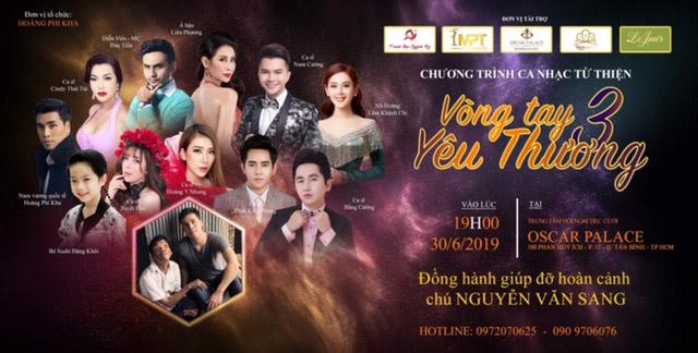 """Đêm nhạc """"Vòng Tay Yêu Thương"""" lần 3 của Hoàng Phi Kha thu hút nhiều ca sĩ tham gia"""