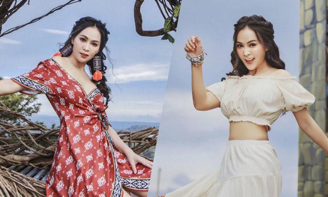 Mỹ Ngọc khác lạ khi check in tại Cổng trời Bali ở Đà Lạt