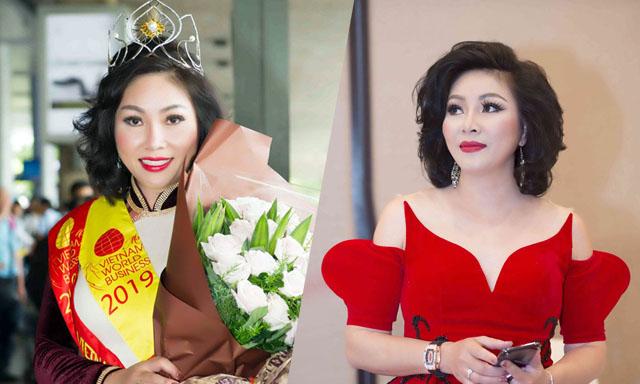 Người đẹp Nguyễn Thị Thuý Ngọc lộng lẫy vương miện Hoa hậu Doanh Nhân Thế giới người Việt 2019