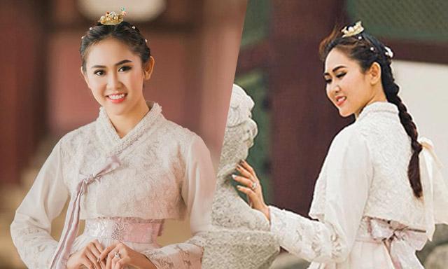 """Á hậu Trúc Ny """"gây thương nhớ"""" qua những khoảnh khắc đáng yêu tại xứ sở Kim Chi"""