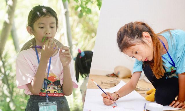 Con gái Ngọc Diễm học làm bánh xèo, vẽ tranh
