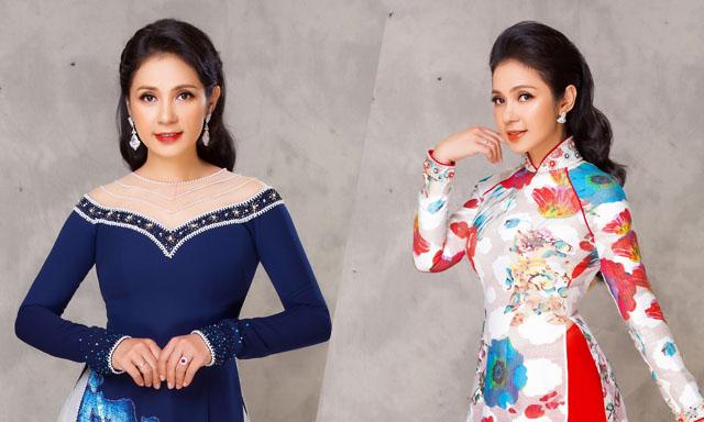 Việt Trinh khoe nhan sắc vượt thời gian qua áo dài Minh Châu