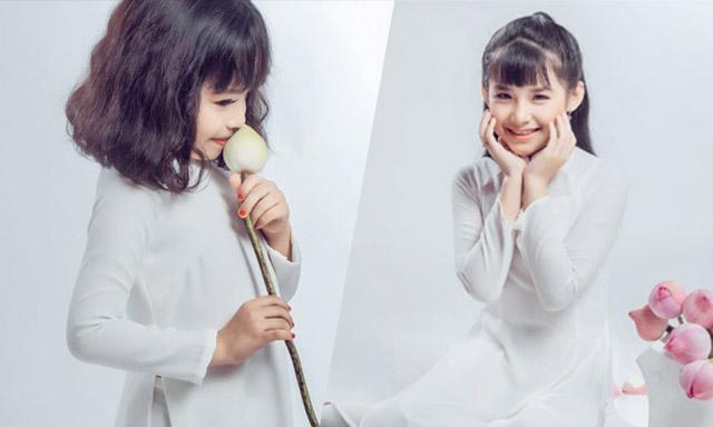 Đại sứ áo dài Vũ Trần Bảo Nguyên đẹp dịu dàng trong áo dài trắng
