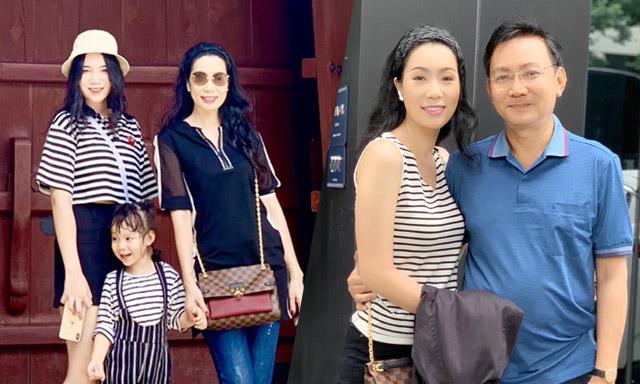 """NSƯT Trịnh Kim Chi chia sẻ hạnh phúc về chuyến nghỉ dưỡng cùng """"ông xã"""" và 2 """"công chúa"""""""
