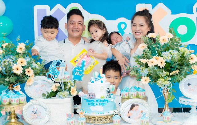 Dàn nghệ sĩ mừng thôi nôi và đầy tháng hai con trai Hải Băng – Thành Đạt