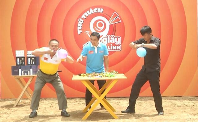 """Huỳnh Lộc và Andy Hoàng """"đối đầu"""" khi tham gia Thử thách 99 giây cùng Quyền Linh"""