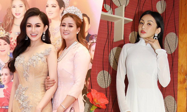 Á hậu Thanh Huyền đầy vẻ nữ tính khi xuất hiện