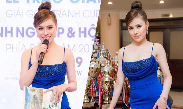 Á hậu Thư Dung vinh dự lên phát biểu, trao giải cho các Golf thủ xuất sắc nhất