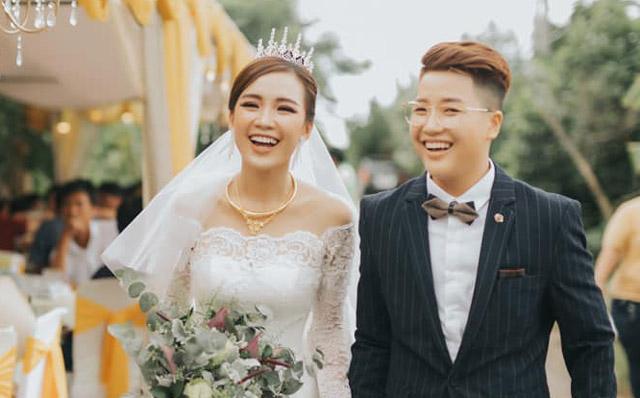 Á quân Solo cùng Bolero Tú Tri hạnh phúc trong ngày thành hôn cùng đạo diễn chuyển giới