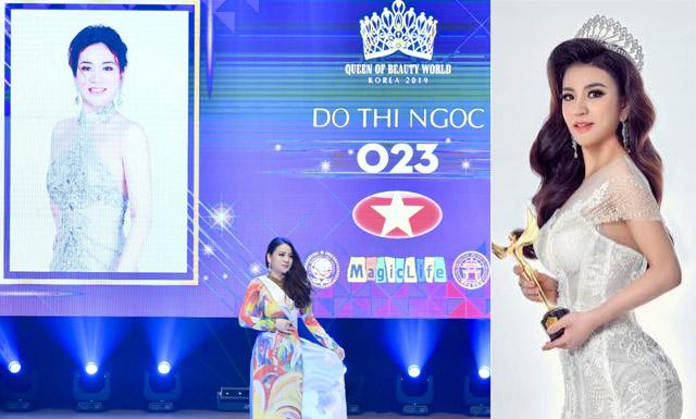 """Doanh nhân Ngọc San San giành ngôi vị """"Nữ hoàng sắc đẹp quyền lực"""" tại cuộc thi """"Queen of beauty world 2019"""""""