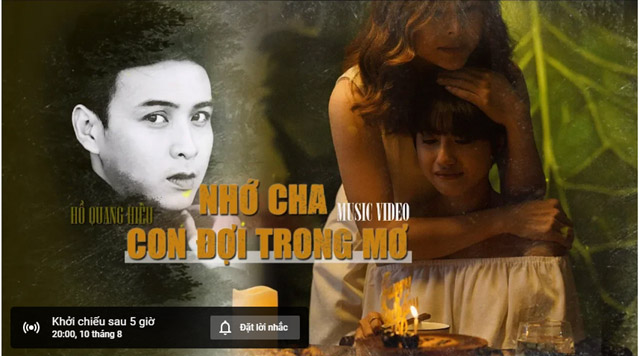 Trailer đếm ngược bất ngờ xuất hiện trên youtube của Hồ Quang Hiếu