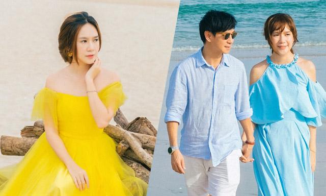 """Minh Hà hóa """"thiên thần biển xanh"""" quyến rũ, sánh đôi cùng ông xã Lý Hải bên bờ biển"""