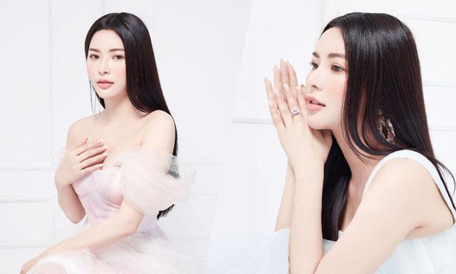 Á hậu Hoàng Dung long lanh tựa giọt sương mai trong bộ ảnh mới