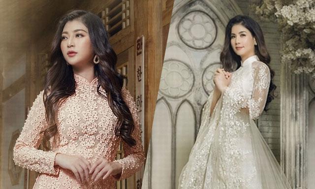 Thanh Trúc nền nã, Kha Ly dịu dàng trong áo dài Minh Châu