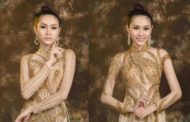 """Người mẫu Kim Ngân diện áo dài xuyên thấu """"độc lạ"""" của NTK Tommy Nguyễn"""