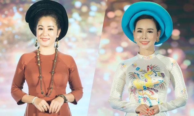 Mặc áo dài Việt Hùng, Nghệ sỹ Thúy Nga cùng Đại sứ An Xinh đấu giá từ thiện