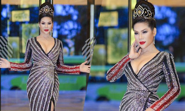Hoa khôi Hương Hoàng xuất hiện lộng lẫy tại sự kiện chung kết Mister Việt Nam 2019