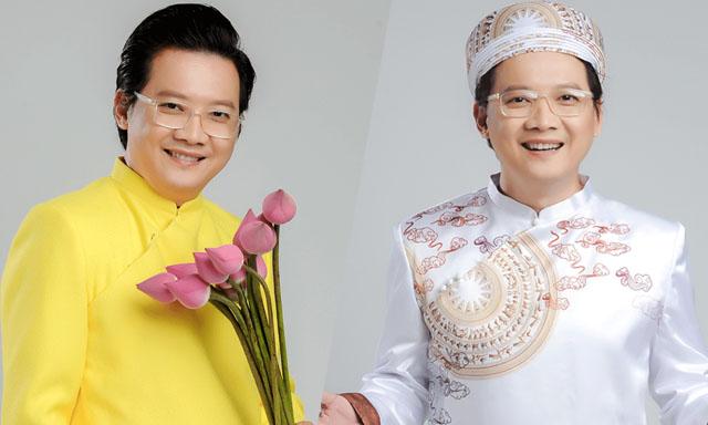 Nhà báo - MC Phước Lập ủng hộ NTK Việt Hùng vinh danh Áo dài Việt