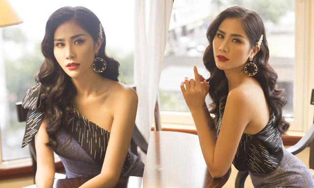 Hoàng Hạnh diện váy ánh kim, xinh đẹp nổi bật giữa dàn thí sinh Miss Earth 2019