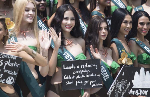 Hoàng Hạnh diện bikini khoe dáng bốc lửa, nổi trội giữa dàn thí sinh Miss Earth 2019