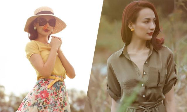 Hoa hậu Ngọc Diễm hóa quý cô vintage trong BST mới của NTK An Nhiên