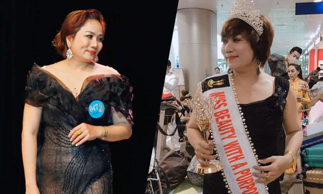 Nữ doanh nhân Ngọc Phượng đoạt ngôi vị Á hậu 3 tại Hoa hậu Nam vương Đại sứ toàn cầu 2019