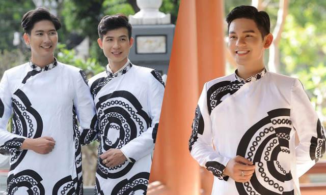 Ca sĩ Sơn Ngọc Minh hạnh phúc cùng NTK Việt Hùng tôn vinh áo dài Việt