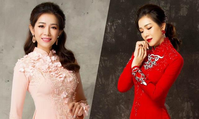 Hoa hậu ảnh 2000 Yến Nhi tái xuất, làm mẫu áo dài cho nhà thiết kế Minh Châu