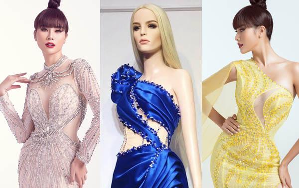 """Hoàng Hạnh diện trang phục lấy cảm hứng từ """"Hoa hồng xanh"""" trong đêm chung kết Miss Earth"""