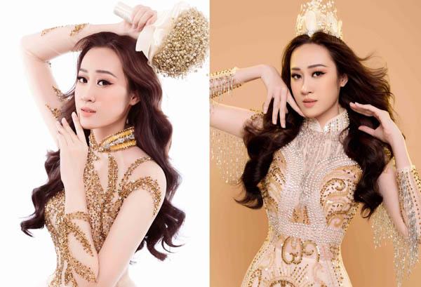 Anika Trinh Trinh hoá Vương phi với áo dài Hoàng tộc của NTK Tommy Nguyễn