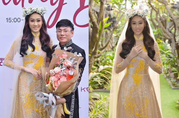 """Anika Trinh Trinh kiêu sang với BST áo dài """"Sắc Thu Hoàng Tộc"""" của NTK Tommy Nguyễn"""