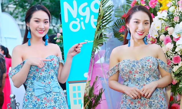 """Cao Mỹ Kim gây bất ngờ với đầm xòe hoa trễ vai trong buổi ra mắt """"Ngốc ơi tuổi 17"""""""