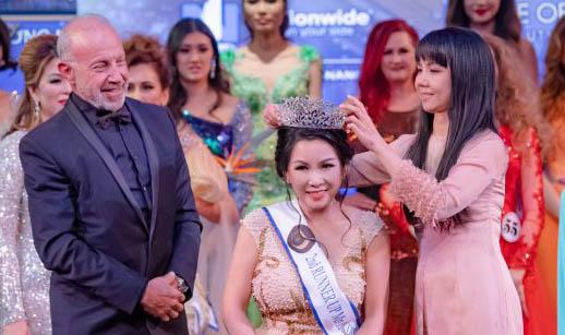 Á hậu Tina Thư Trần tỏa sáng tại chung kết Miss/Mrs Golden World Beauty Pageant 2019