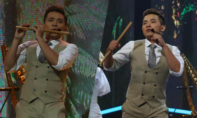 Cháu nội NSƯT Đinh Thìn biểu diễn nhạc cụ dân tộc kết hợp nhạc hiện đại khiến Sam, Tim phấn khích
