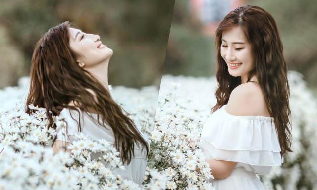 MC Khánh Hòa gây ấn tượng với bộ ảnh rạng rỡ thanh xuân bên hoa cúc Họa Mi