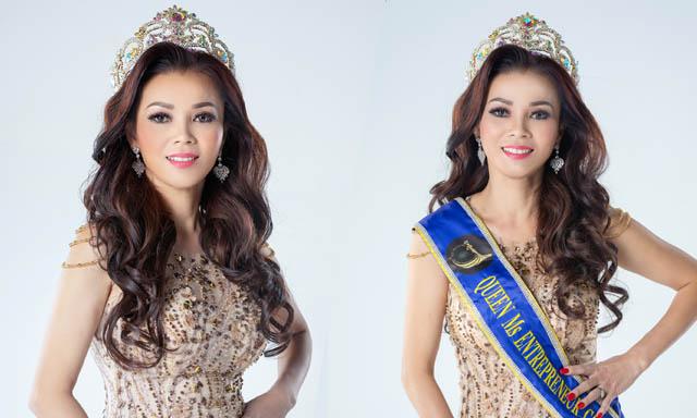 Hoa hậu Ninh Nguyễn sang trọng trong từng shoot hình dạ hội