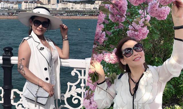 Người đẹp Thu Hương thỏa mình trong những ngày nghỉ