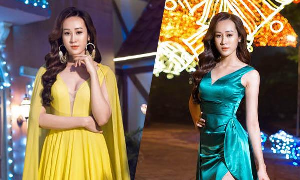 Anika Trinh Trinh diện váy xẻ cao của NTK Tommy Nguyễn giữa trời đông Hà Nội