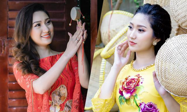 Cao Mỹ Kim khoe sắc rạng ngời với những thiết kế áo dài đón Xuân