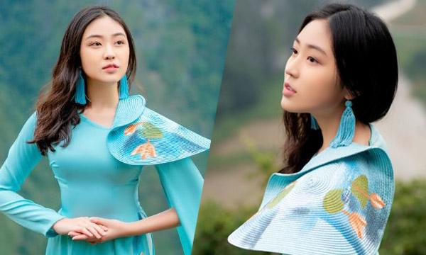 Ngắm vẻ rạng rỡ, tinh khôi của Tân Đại sứ Áo dài Bảo Nguyên trong áo dài Việt Hùng