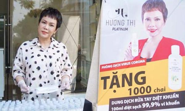 Mỹ phẩm Hương Thị hoàn thành trao 10.000 chai nước rửa tay khô cho bà con nghèo