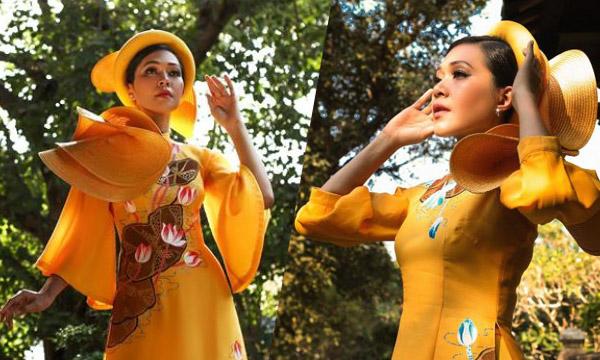 DVĐA Đinh Y Nhung hóa thân thành quý cô đài các trong áo dài của NTK Việt Hùng