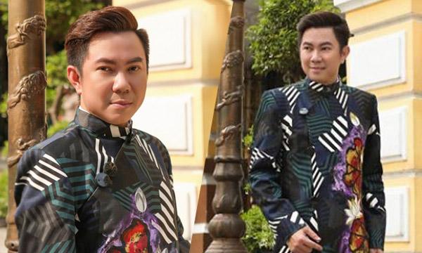 Ca sĩ Quốc Đại hạnh phúc cùng NTK Việt Hùng tôn vinh áo dài Việt
