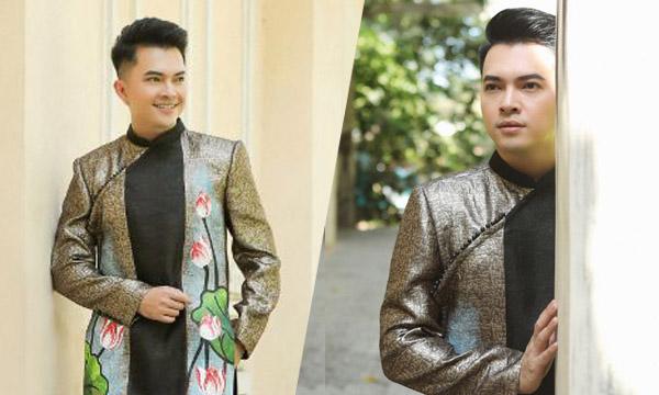 Ca sĩ Nam Cường khoe phong độ chuẩn quý ông trong Áo dài Việt Hùng