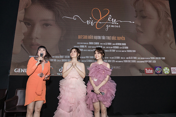 Chị em song sinh trong nhóm Gemini chi 1 tỷ quay MV 'Vì Yêu'